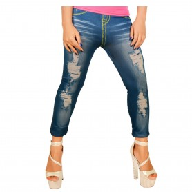 yellow line ripped Jeggings Seamless Imitation WLSJ-001
