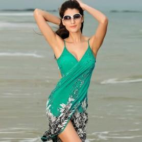 Swimsuit swimwear shoulder-straps skirt dress WLSW-002